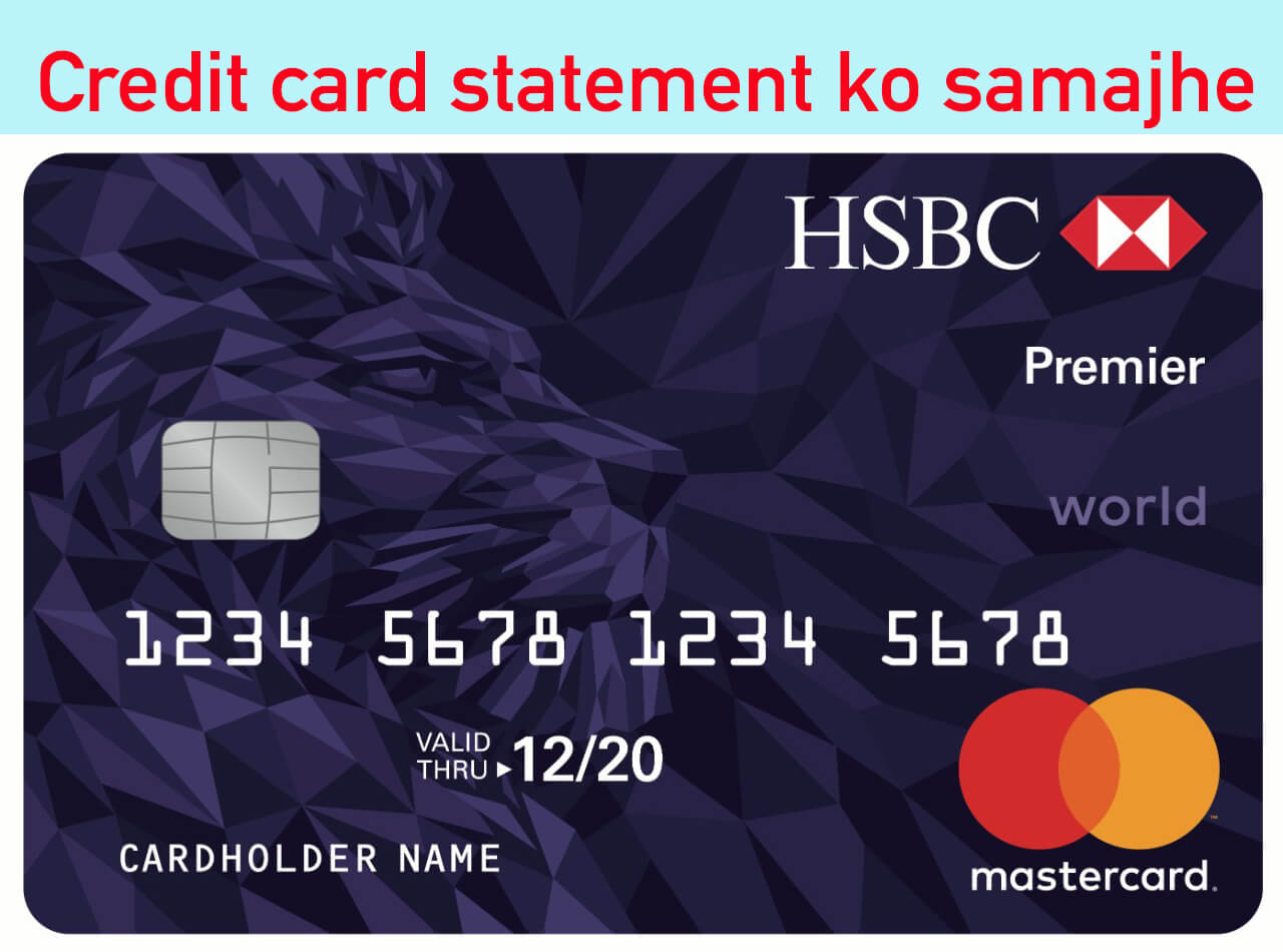 credit card statement details