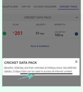 jio fi cricket pack data plan